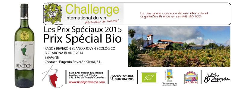 Bodegas Reverón premiada en Francia