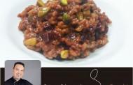 Risotto de remolacha y pistachos
