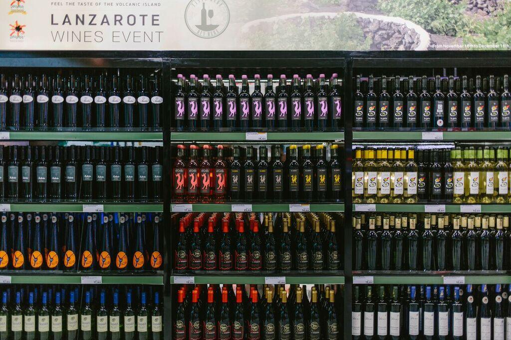 Botellas de vino en el aeoropuerto