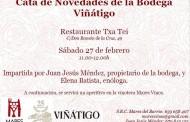 Cata de novedades de la Bodega Viñátigo en el restaurante TXA-TEI (Madrid)