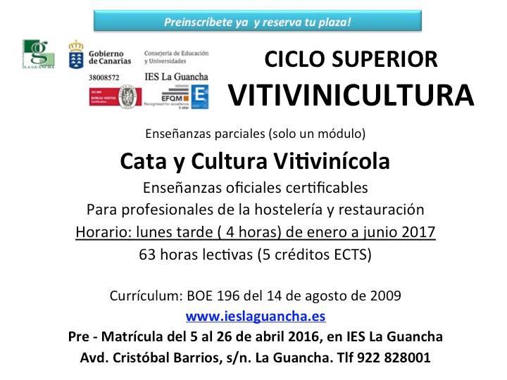 MÓDULO DE CATA Y CULTURA VITIVINÍCOLA