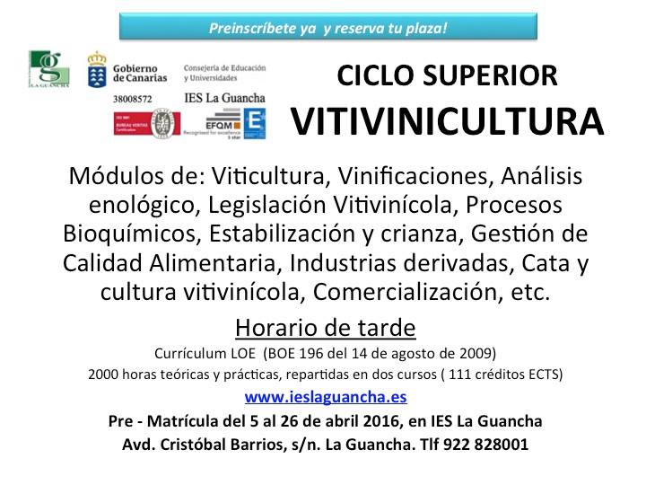 CICLO SUPERIOR DE VITICULTURA