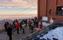 La cata más alta de España, en el Teide