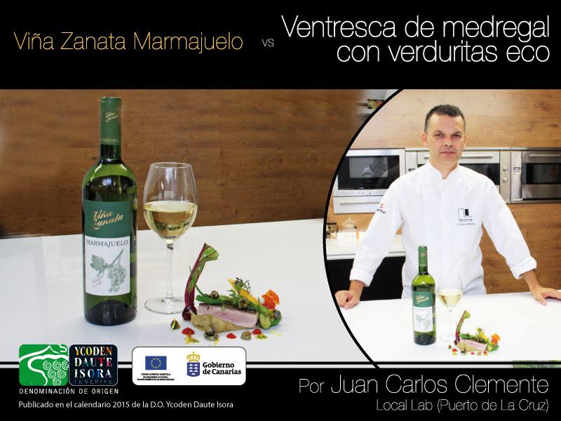 """Maridaje: Viña Zanata Marmajuelo vs Ventresca de medregal con verduritas """"eco"""""""