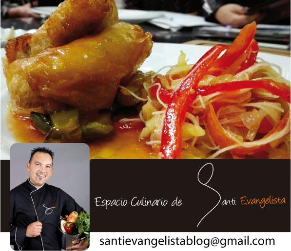 Receta de Santi Evangelista: Cerdo Crujiente en salsa agridulce y ensalada tailandesa