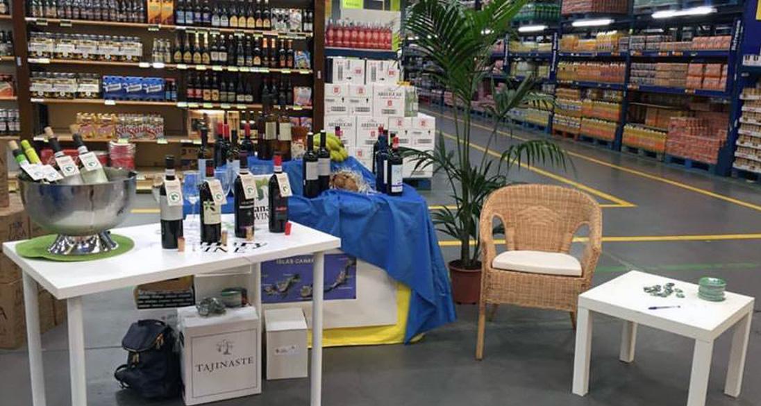 """Promoción de los """"Canary Wine"""" en Makro"""
