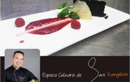 Receta: BIZCOCHO DE REMOLACHA Y CHOCOLATE SOBRE CULIS DE FRAMBUESAS