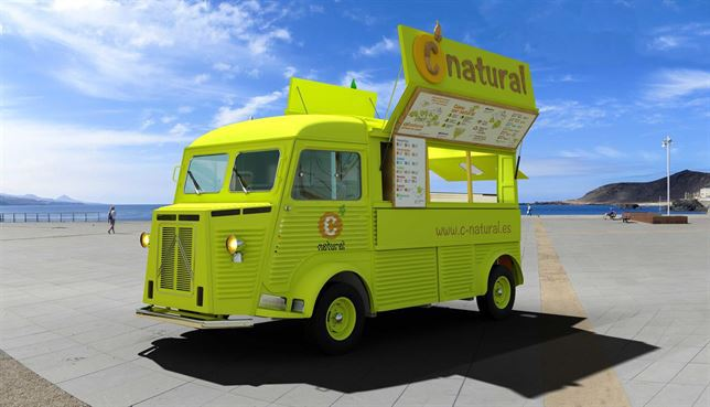 "Una ""food truck"" en entorno playero"