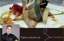 La receta de Santi Evangelista: Sardinas marinadas con fruta de la pasión y ensalada de Rúcula