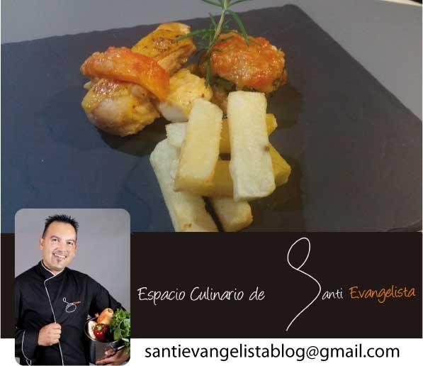 Receta de Santi Evangelista: POLLO DE CORRAL A BAJA TEMPERATURA CON SALSA DE PAPAYA