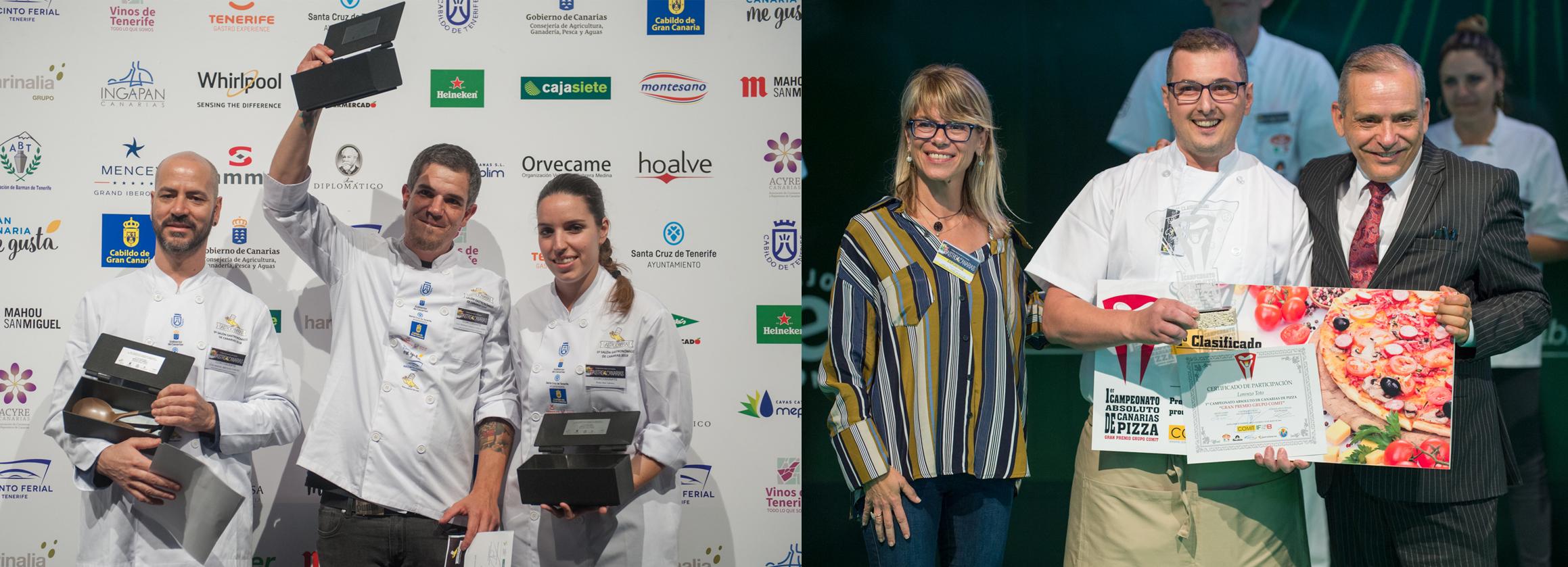 Ganadores del Concurso de Cocina y de Pizzas GastroCanarias