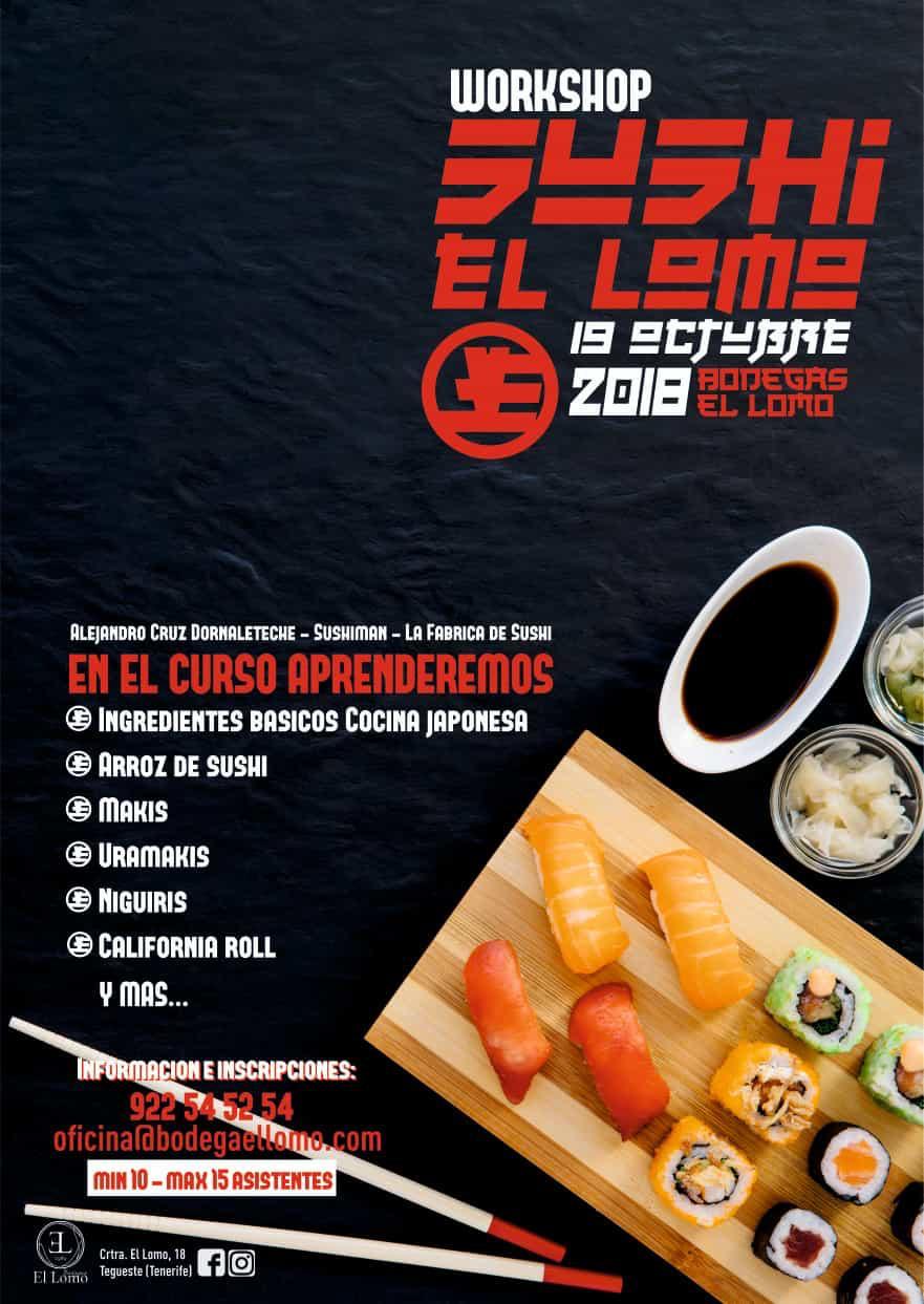 Taller de Sushi, en Bodegas El Lomo, el próximo 19 de octubre