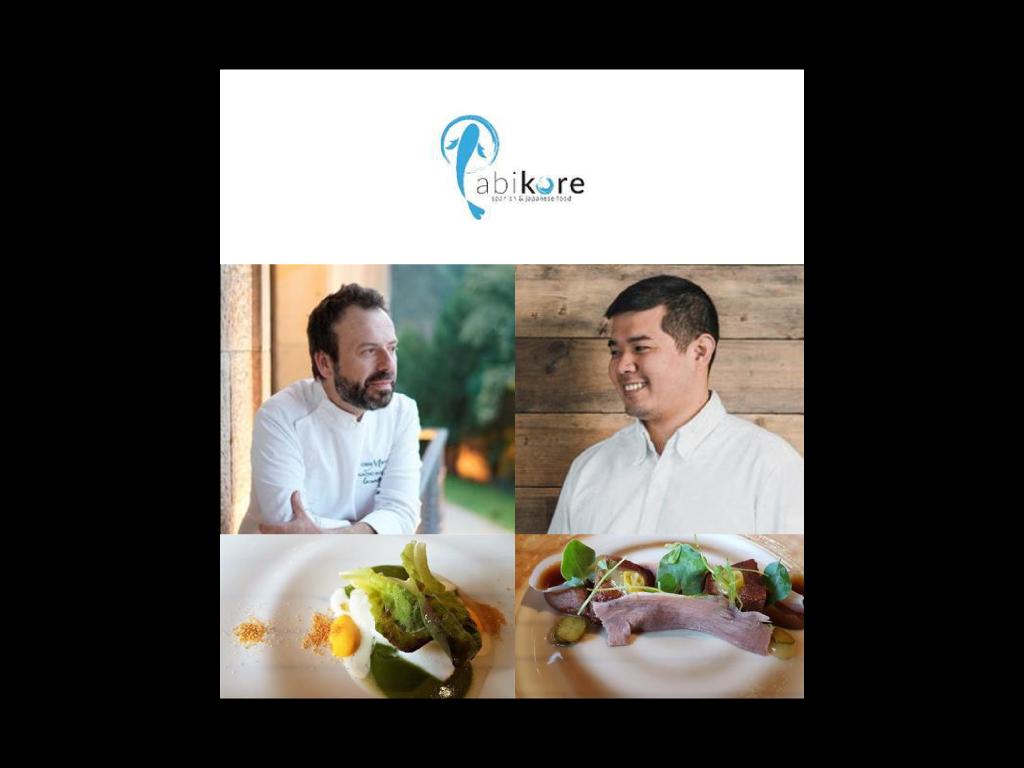 """El gran chef Nacho Manzano (Casa Marcial, Asturias**) revolucionará Abikore con dos """"jamm sessions"""" irrepetibles junto a Tadashi Tagami"""