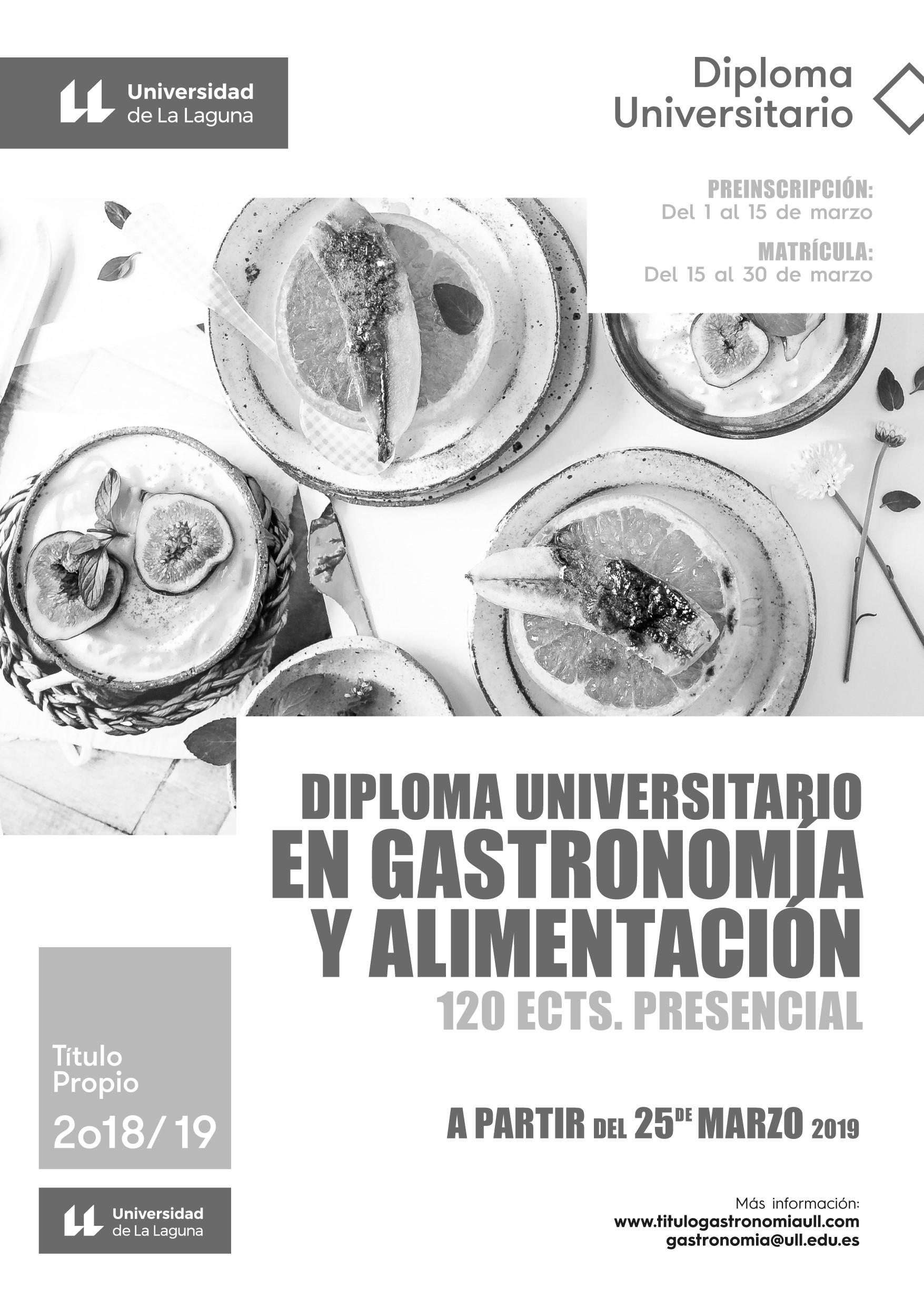 """El Título de Gastronomía de la Universidad de La Laguna """"calienta motores"""""""