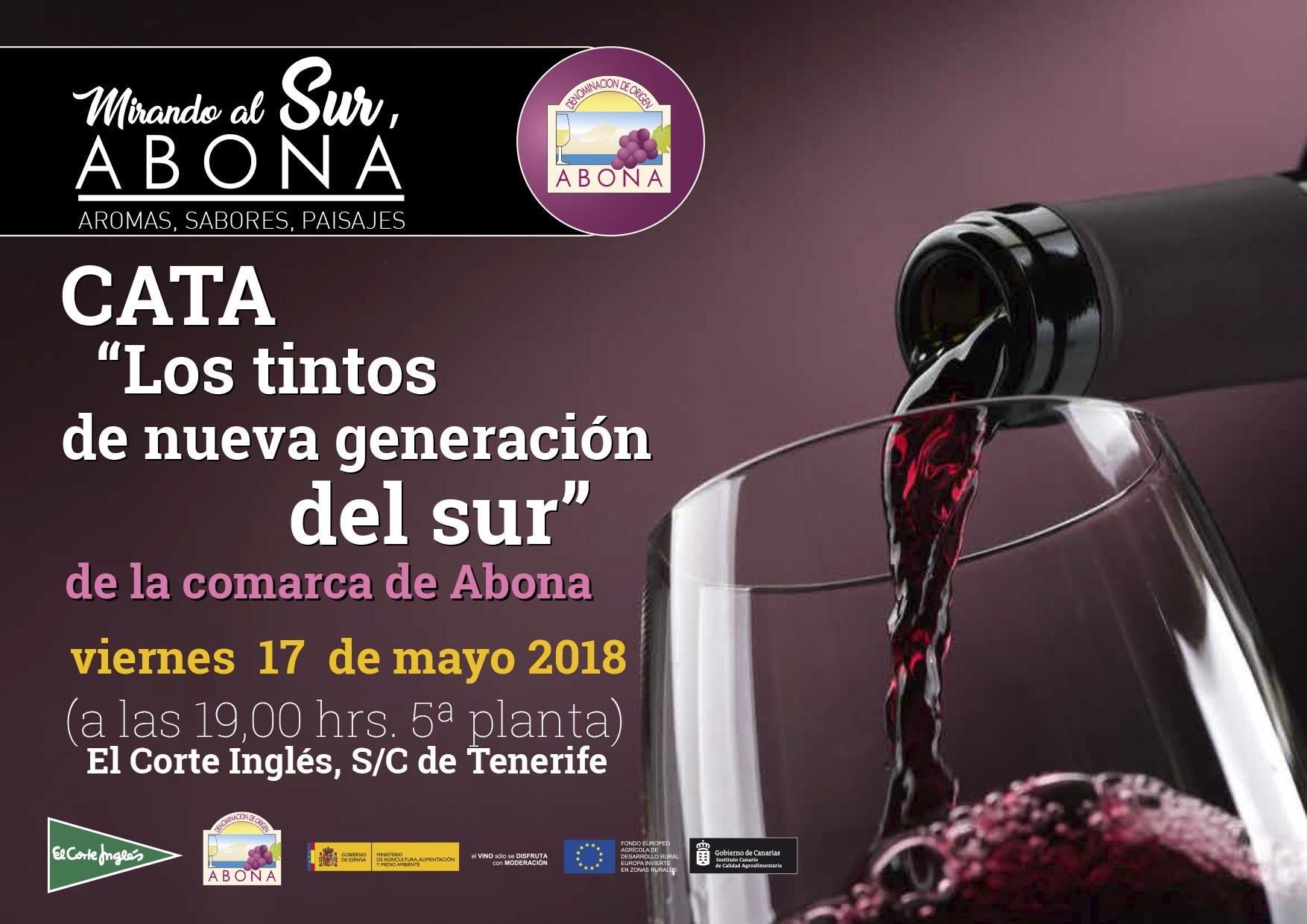 Los Tintos de nueva generación en el Sur, cata degustación comentada, en El Corte Inglés de S/C de Tenerife