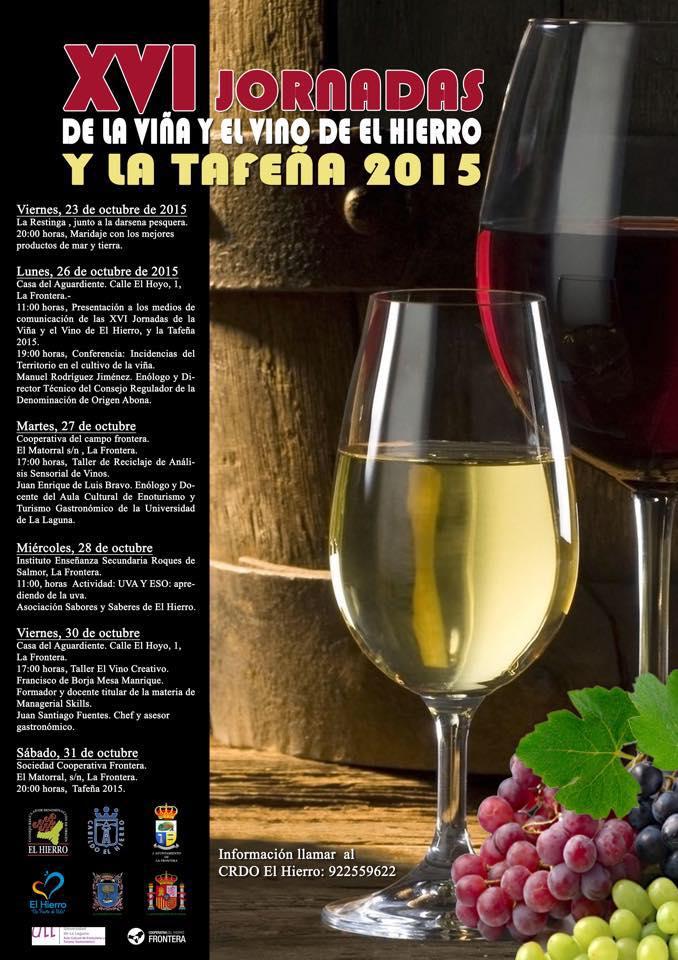 PRESENTACIÓN XVI JORNADAS DE LA VIÑA Y EL VINO DE EL HIERRO, Y TAFEÑA 2015