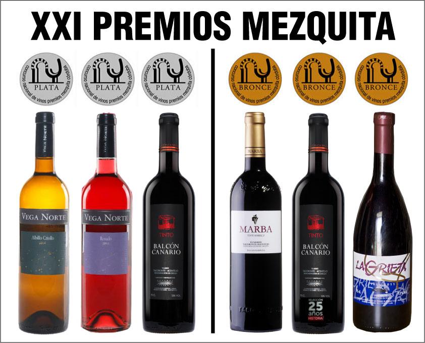 6 vinos canarios premiados en el XXI Concurso de Vinos Premios Mezquita