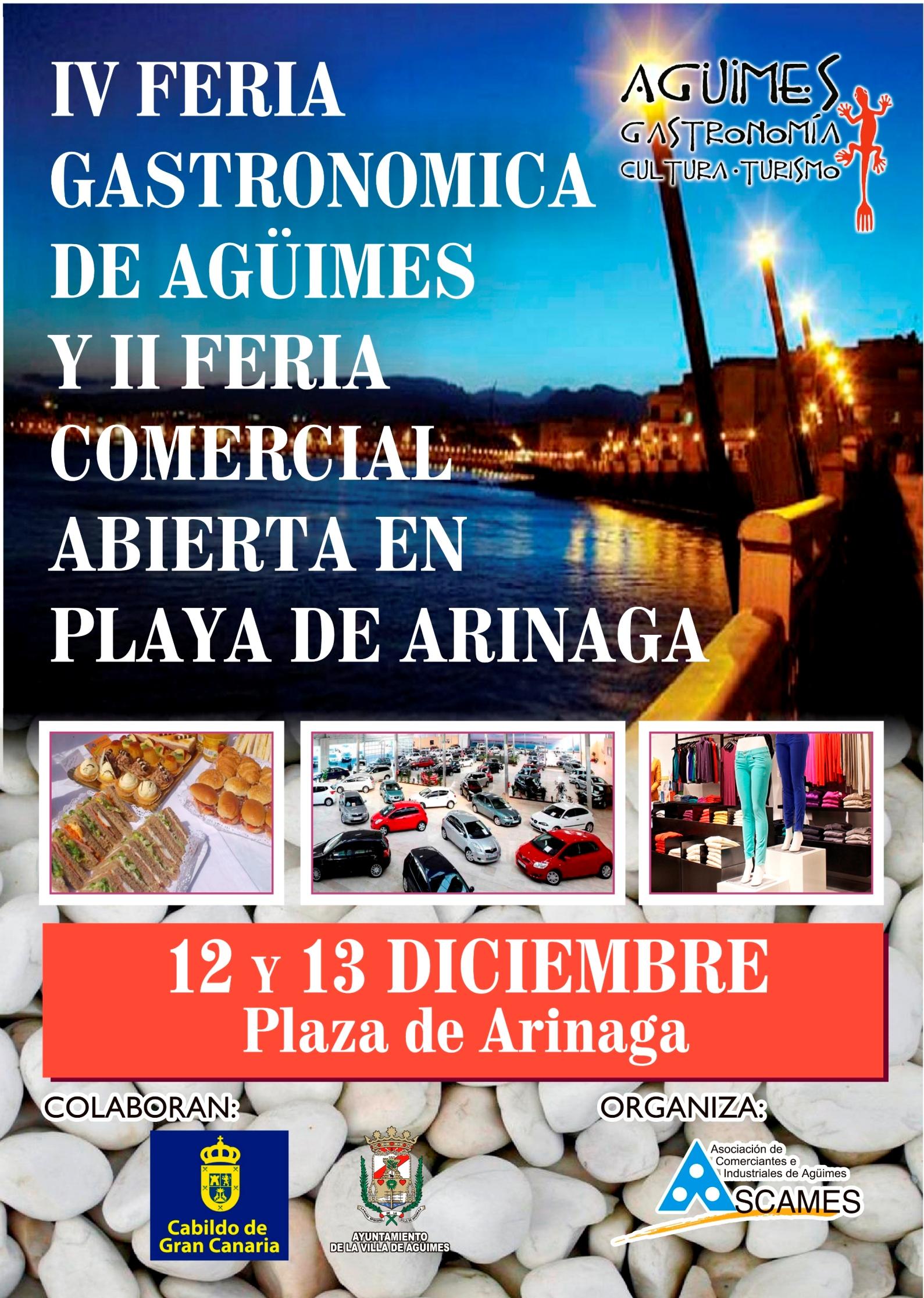 IV Feria Gatronómica de Agüimes y II Feria Comercial Abierta de Arinaga