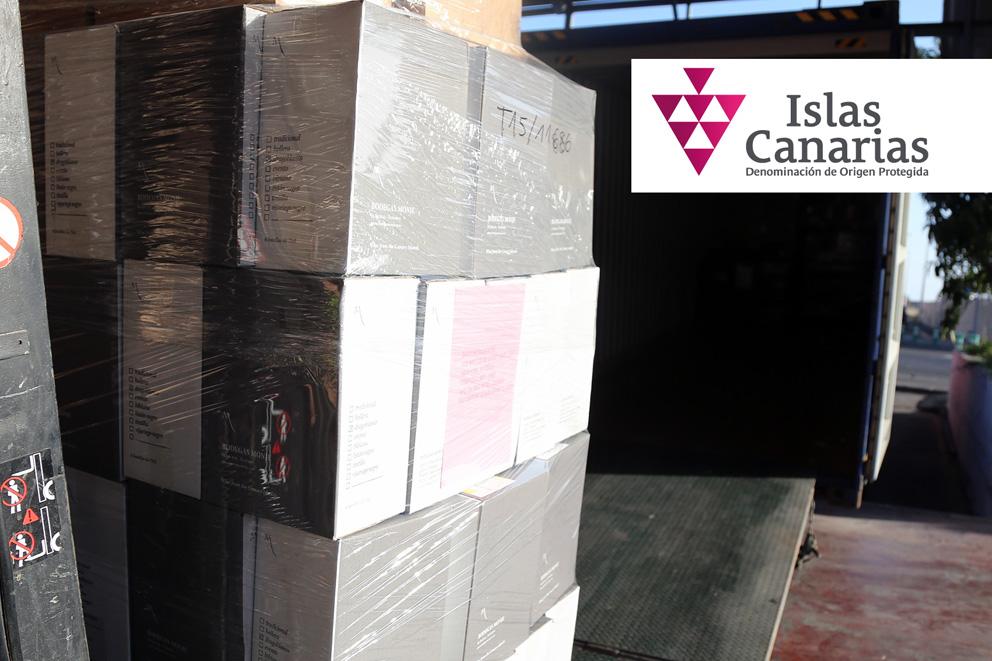 La DOP Islas Canarias promueve el transporte de vinos al Puerto de Barcelona para facilitar la comercialización