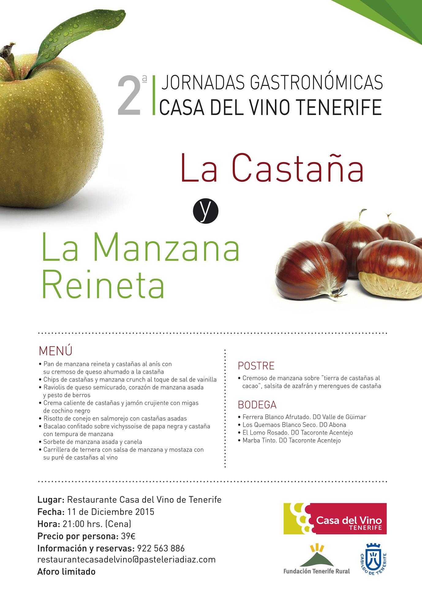 La castaña y la manzana reineta protagonistas en la Casa del Vino Tenerife