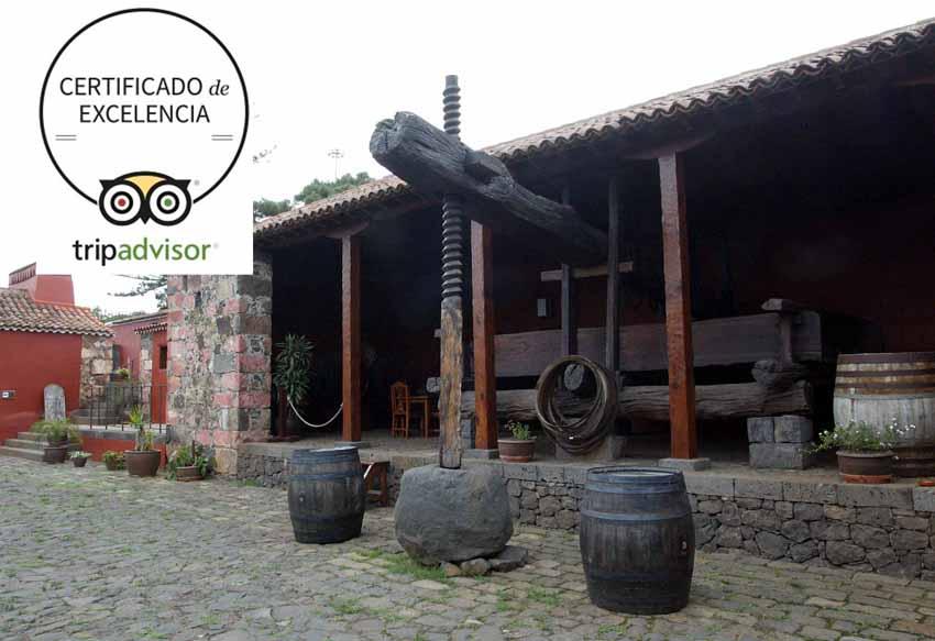 La Casa del Vino de Tenerife consigueel certificado de excelencia de Tripadvisor