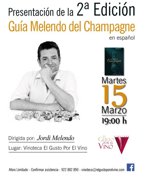 Presentación de la 2ª Edición de la Guía Melendo del Champagne, en la Vinoteca El Gusto por el Vino