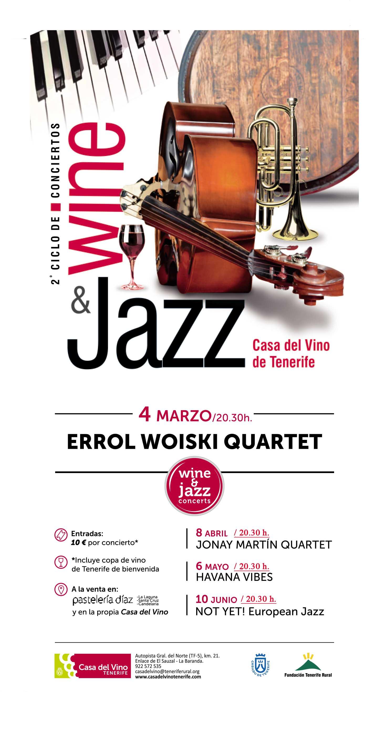 Nuevo ciclo de conciertos de Jazz en La Casa del Vino de Tenerife