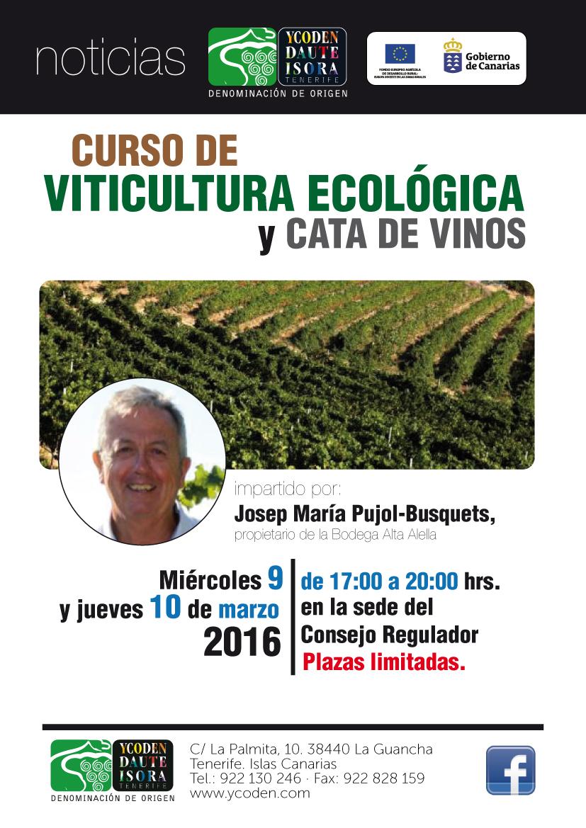 Curso de Viticultura Ecológica impartido por Josep María Pujol-Busquets