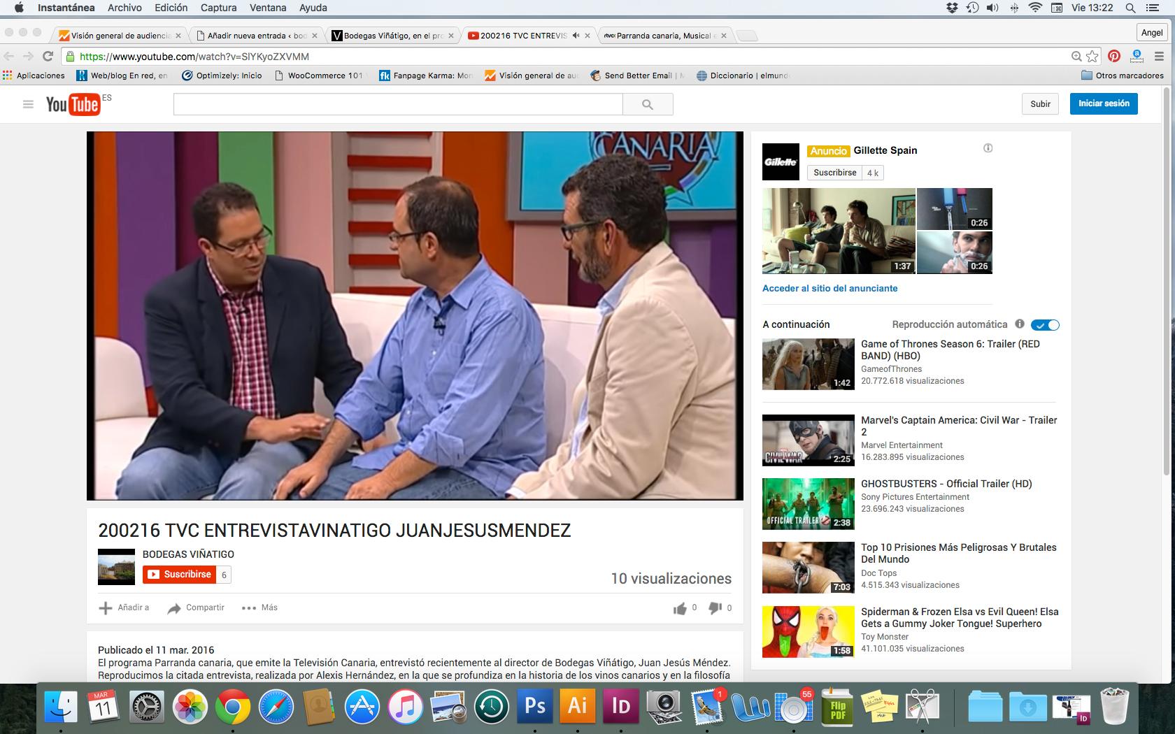 Bodegas Viñátigo, en el programa Parranda Canaria de la Televisión Autonómica