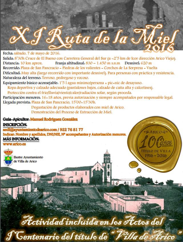 XI Ruta de La Miel 2016. Villa de Arico