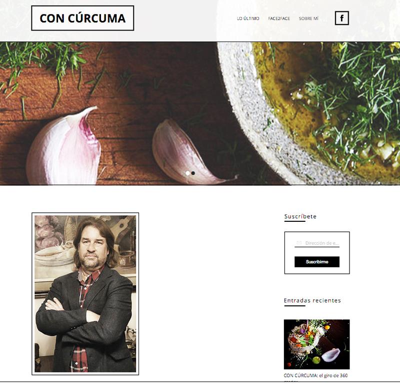 Nueva web gastronómica de Fran Belín