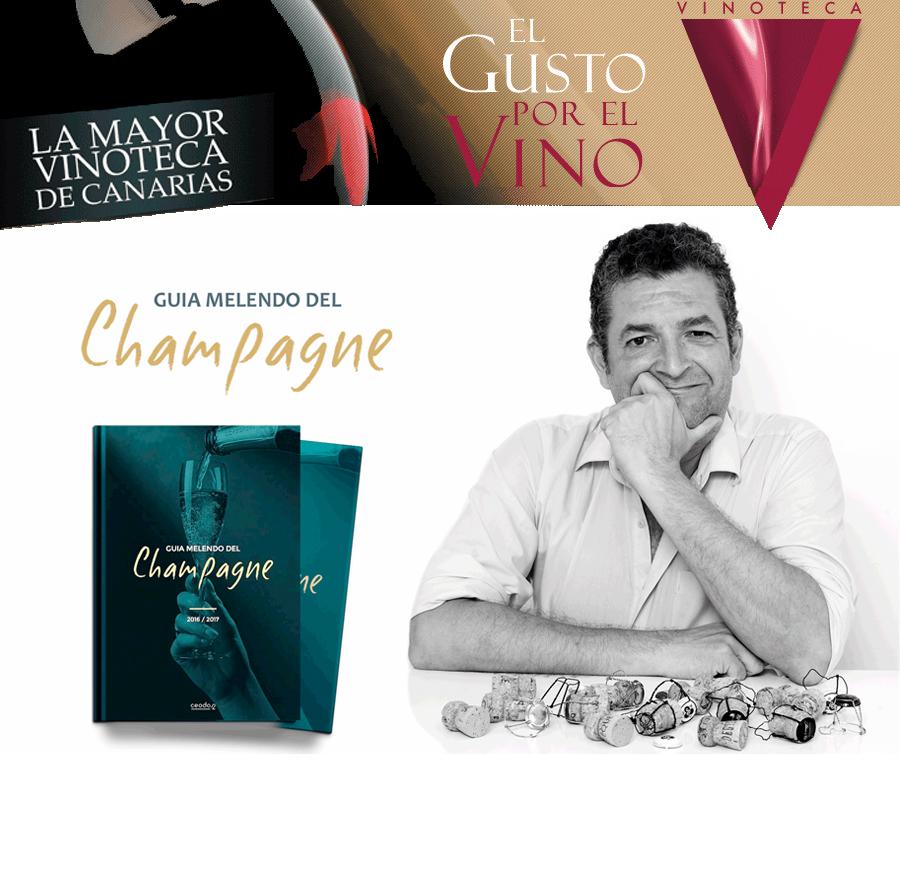 Guía Melendo del champagne. Disponible en la Vinoteca El Gusto por El Vino