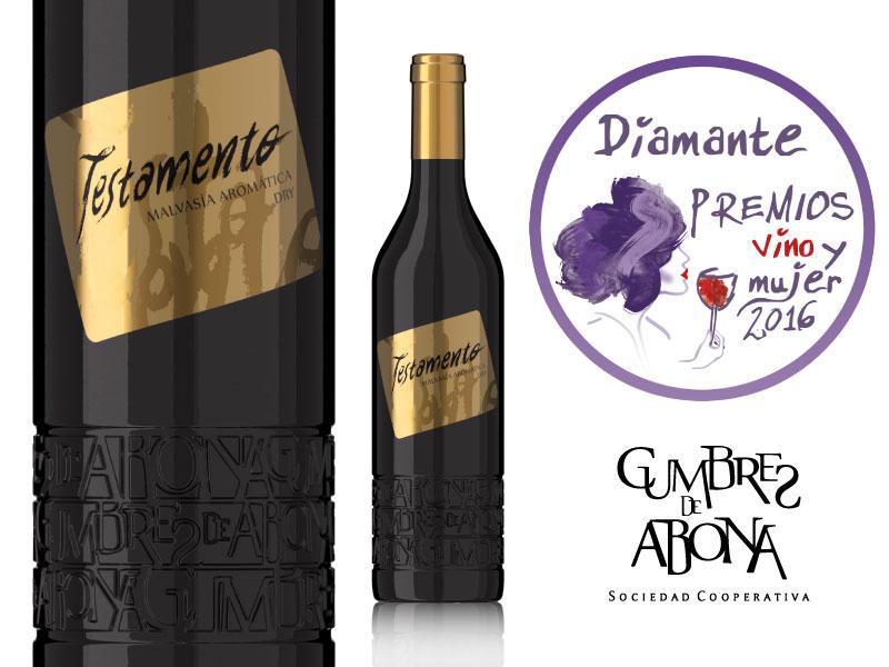 Testamento Malvasía Dry 2015. Premio Diamante en el Concurso Internacional de Vinos