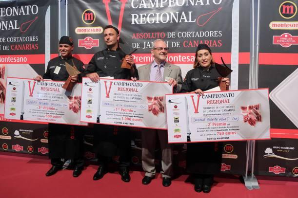Carlos Lista González, el mejor cortador de jamón en Gastrocanarias