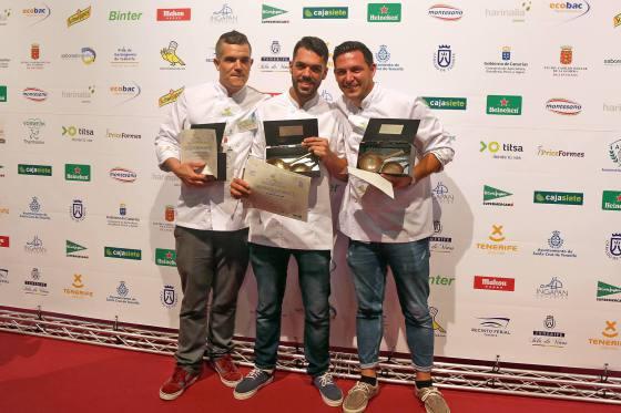 Eduardo Domínguez, vencedor del Campeonato Regional de Cocineros deCanarias