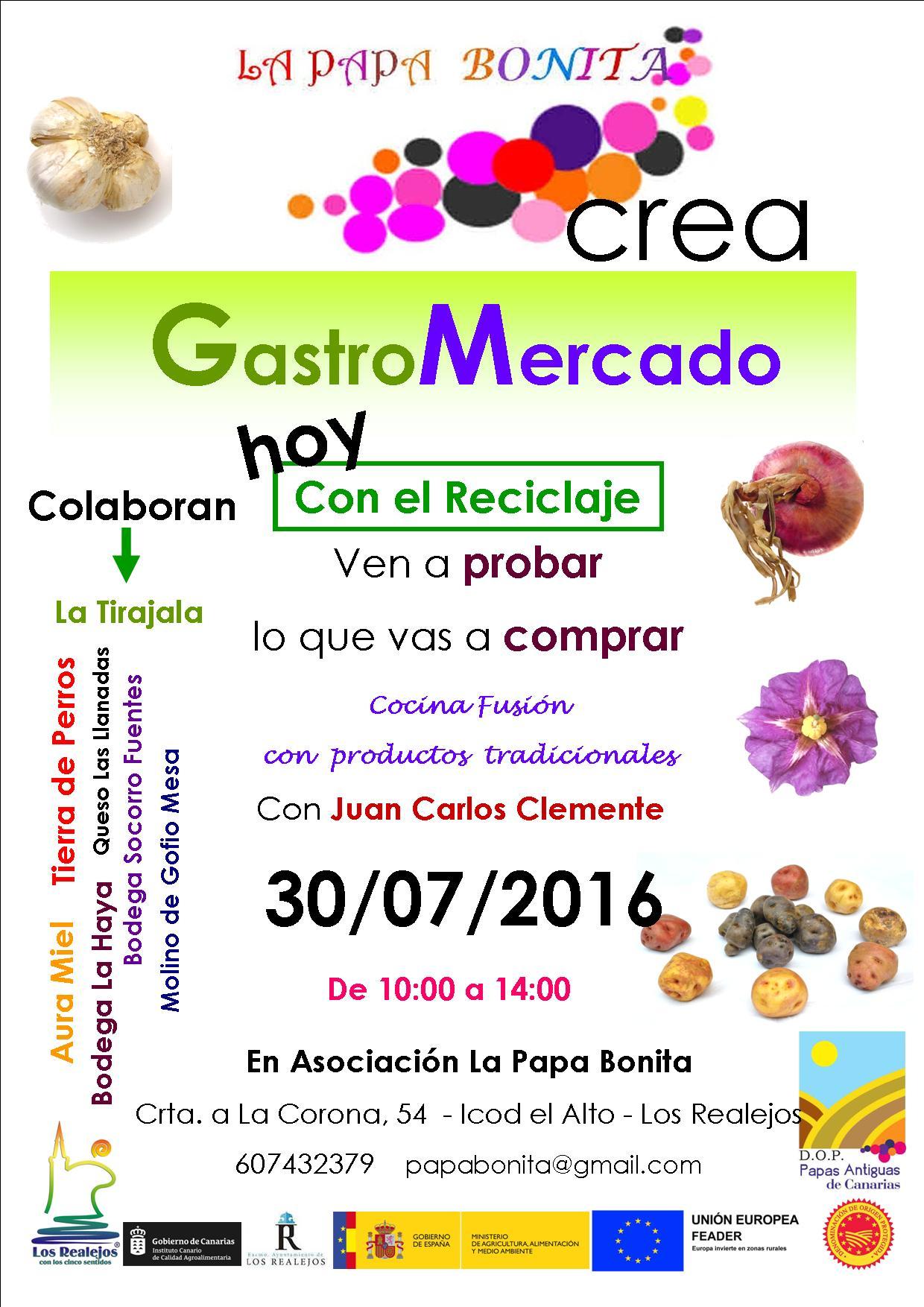 GastroMercado, con Juan Carlos Clemente y la Asociación Papa Bonita