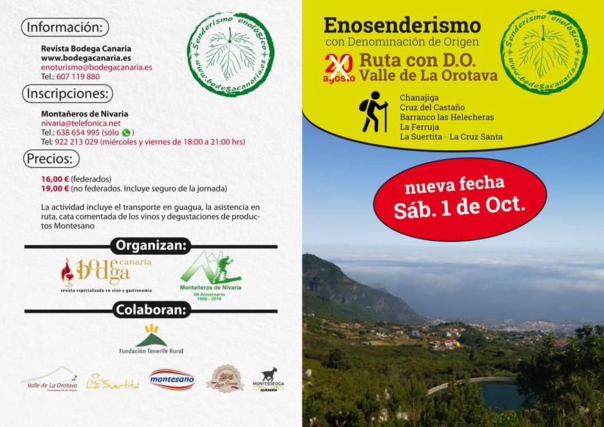 Enosenderismo con D.O. Valle de La Orotava. Cambio de fecha
