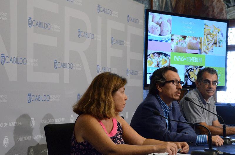 El Cabildo realiza una campaña de promoción para fomentar el consumo de papas de Tenerife