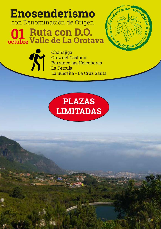 Enosenderismo con D.O. Valle de La Orotava. Apúntate