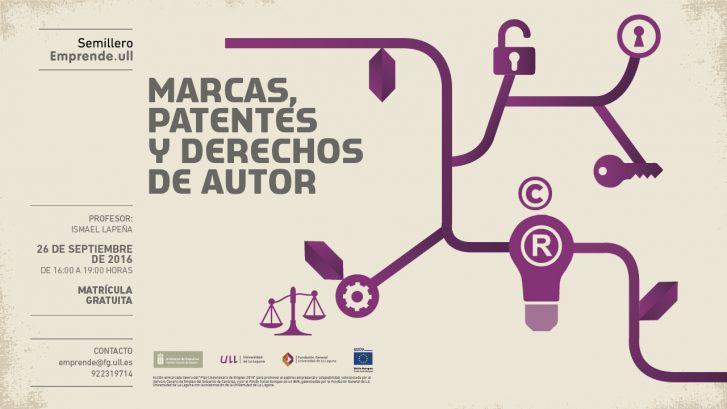 Marcas, patentes y derechos de autor.