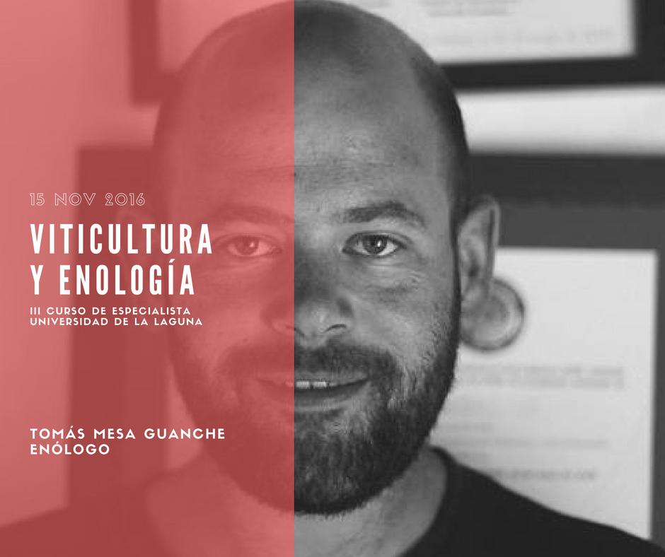 Tomás Mesa, enólogo de Bodegas El Grifo, impartirá un módulo de Viticultura y Enología en la Universidad de La Laguna.