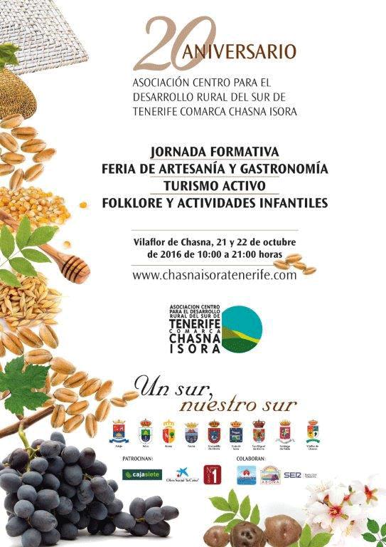 Programa de Actividades del XX Aniversario de La Asociación Centro para el Desarrollo Rural del Sur de Tenerife Comarca Chasna Isora