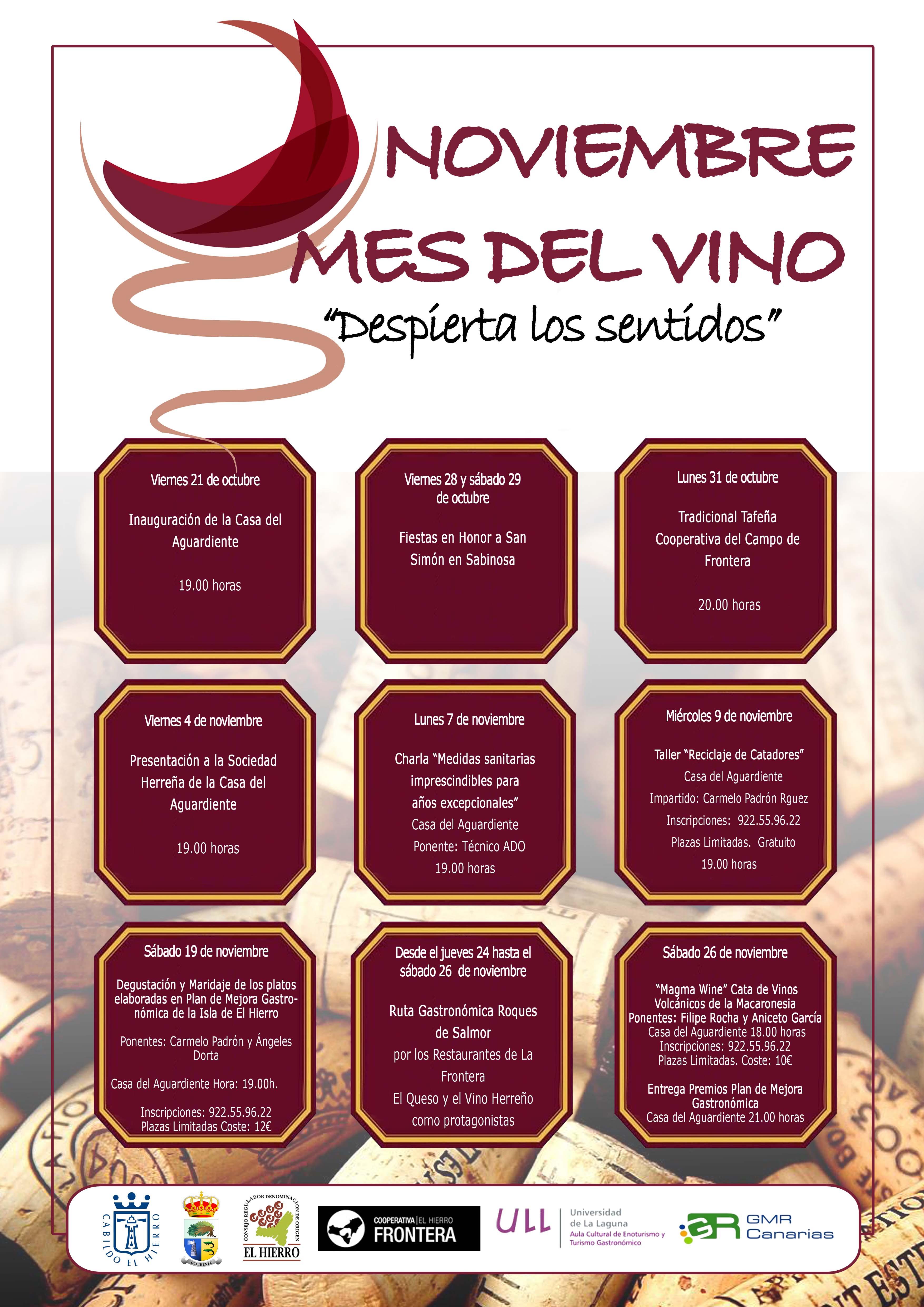 ´Noviembre, mes del vino´, un programa de promoción de la cultura vitivinícola de El Hierro