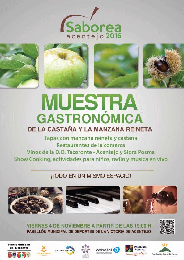Saborea Acentejo 2016: Evento gastrocultural en torno a la manzana reineta y la castaña