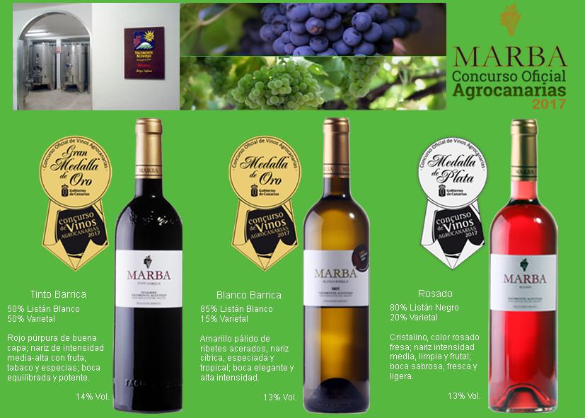 Bodegas Marba, nuevos premios