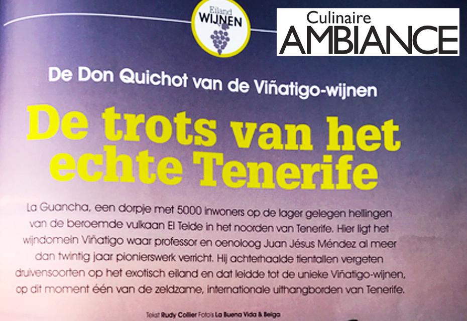 Viñátigo reconocida en Bélgica