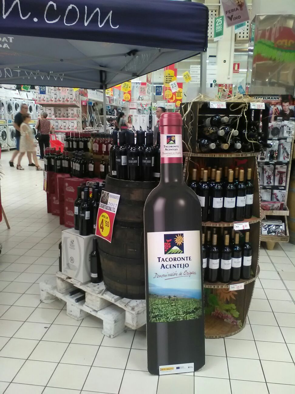 "Tacoronte-Acentejo en la ""Feria del Vino Alcampo La Laguna 2017"""