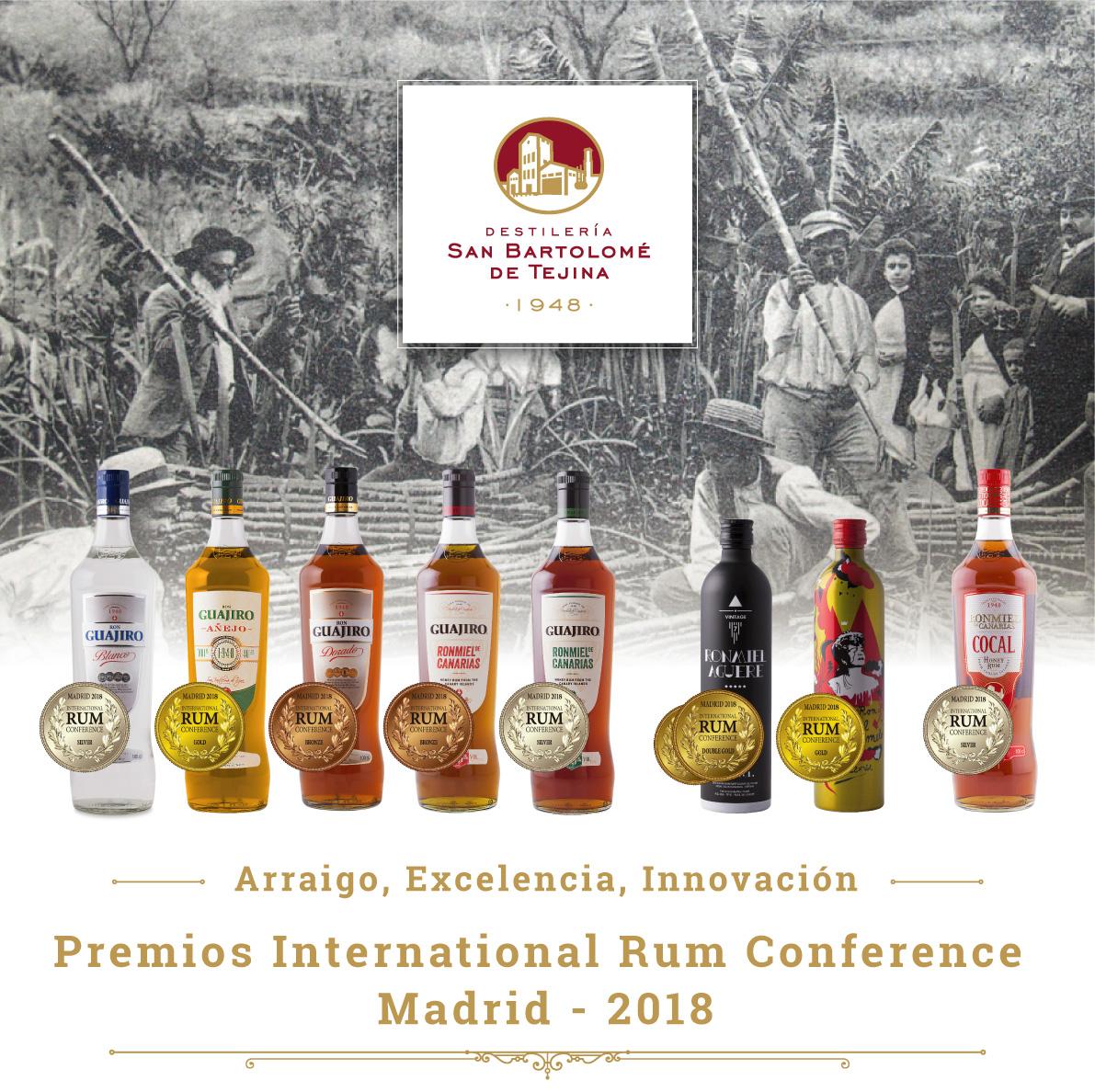 Destilería de Tejina pleno en el Concurso Internacional del Ron 2018