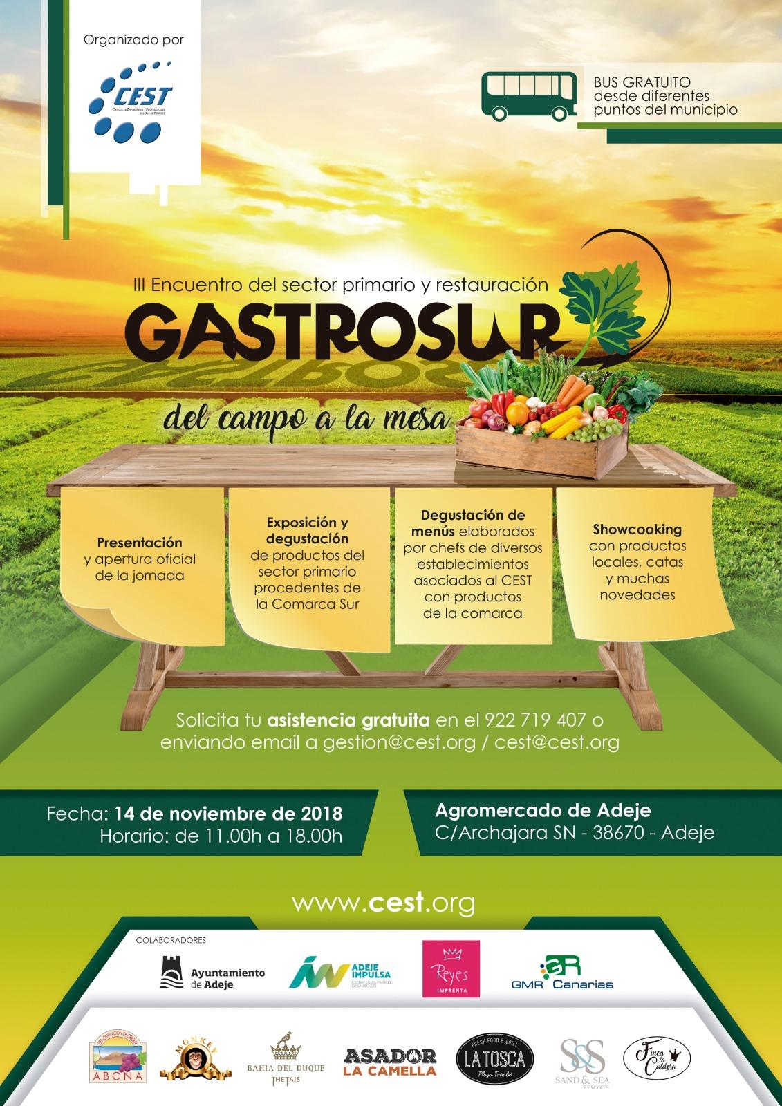 """III Encuentro entre Profesionales del Sector Primario y de la Hostería-Restauración: GASTROSUR """"Del Campo a la Mesa"""""""