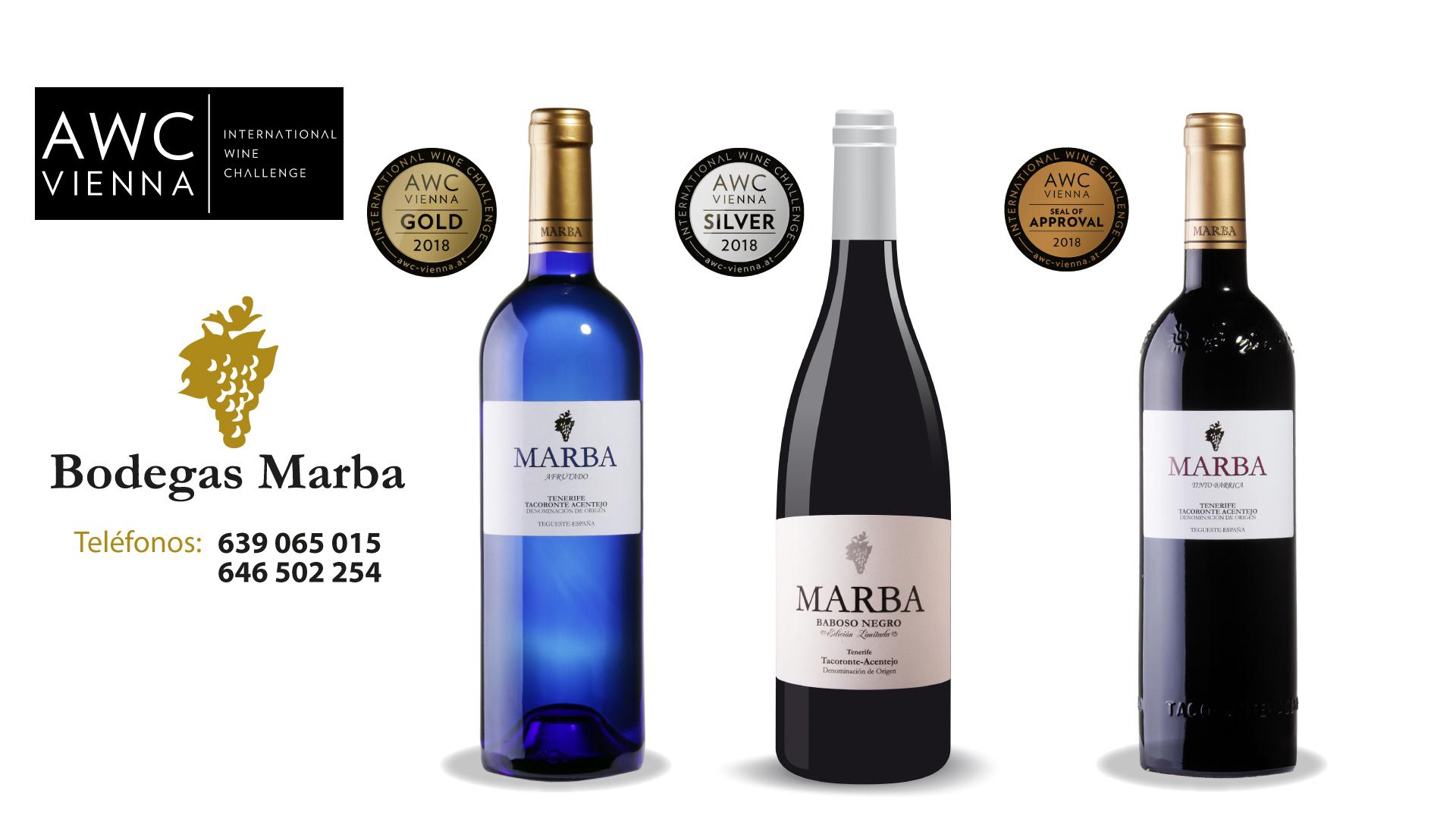 Bodegas Marba sigue cosechando premios; un oro, una plata y sello de aprobación en la AWC Vienna